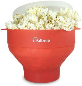 The Original Salbree Microwave Popcorn Popper with Lid, Silicone Popcorn Maker