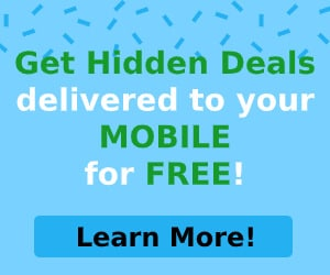 Get Hidden Deals delivered to your Mobile!